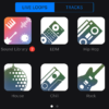 iPhone GarageBandのLive Loopsで超簡単にエレクトロニック・ミュージックを作る方法